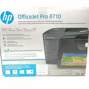 HP OfficeJet Pro 8710 All-In-One Printer Scanner Fax Copy
