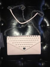 REBECCA MINKOFF WALLET ON A CHAIN WITH STUDS PALE PINK $225 new