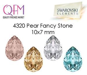 12pcs 7x10mm 4320 SWAROVSKI® Undrilled Pear Fancy Stone Teardrop