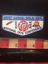 Vtg 1979 KOLA 464 Lodge WWW BSA NATIONAL CONFERENCE Colorado Scout Patch 75V4