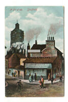 A Bit of Old Sheffield - Hubbard's confectioner's shop - 1905 used postcard