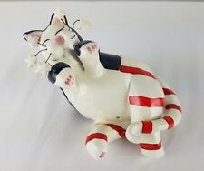 Lacombe 2001 PATRIOTIC CAT Red White Blue Stars and Stripes Figurine Cat