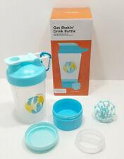 FabFitFun 16 oz Get Shakin' Drink Shaker Bottle BPA-Free Blue Vacation Everyday