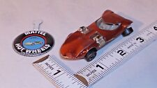 MATTEL HOT WHEELS REDLINE CUSTOM TWIN MILL HOT ROD CAR 1968 WITH BADGE
