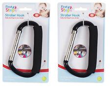 ,Stroller Hook Buggy Clip Pushchair Shopping Bag Holder Baby Pram - Pack of 2,