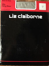 exciting! Vintage Liz Claiborne sheer to waist grey pantyhose
