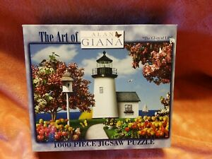 "New Sealed 1000 Piece Alan Giana Puzzle The Glory of Life Lighthouse 18"" x 25"""