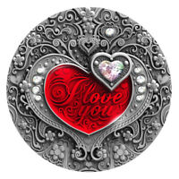 I LOVE YOU Heart 2 Oz Silver Coin 2$ Niue 2020