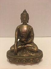 """Tibet Brass Buddhism tathagata Shakyamuni Buddha Bowl Statue approx. 7"""" Tall"""
