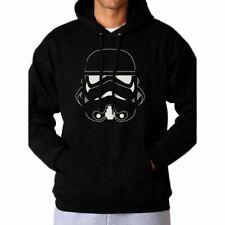 More details for star wars stormtrooper head black hoodie sweater