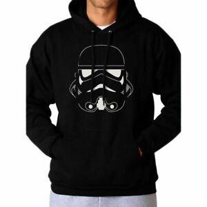Star Wars Stormtrooper Head Black Hoodie Sweater