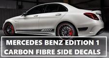 AMG C63 Edition 1 Carbon Fibre Fiber Side Decals - Mercedes Benz C Class W205