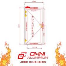 Brandschutz Aluminiumtüre, T30 = Ei30, Brandschutztür, 1000 x 2000 mm Tür