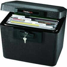 Security Fireproof File Chest Key Lock Document Passport Cash Storage Safe Box