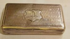 99p No Reserve VICTORIAN SOLID SILVER SNUFF BOX by WILMOT & ROBERTS 1841...29.1g