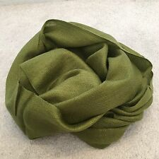 Green Pashmina Silk Shawl Scarf Wrap Summer Handmade Gift Fine Knit Wool Fashion