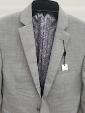 Bar III Men's Slim Fit 38L Two Button Light Gray Wool Jacket Blazer Suit Separat