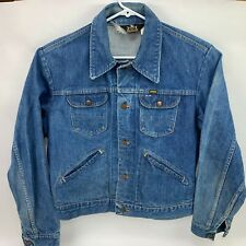 Maverick Blue Bell Denim Coat Vintage Trucker Rockabilly Jean Jacket Made in USA