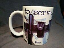 To Serve... And Protect Police Coffee Mug (1.5 Cups) Toolbelt Mug