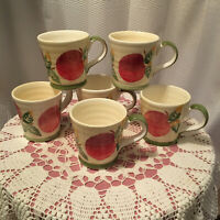 Culinary Arts Studio Collection 6 Apple Mugs, Discontinued Pattern, Limited