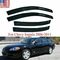 For 2006-13 12 Chevy Impala LS LT LTZ Sedan Window Vent Visors Shade Rain Guards