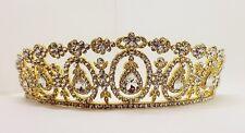 Bridal  Gold Plated Tiara / Sweet 16 Tiara / Wedding tiara  T-024-B