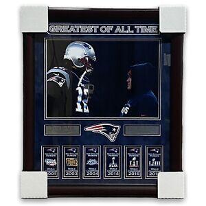 Tom Brady & Bill Belichick Unsigned Photo Collage Framed to 20x24 Patriots