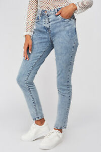 NWT! Next Women's Relaxed high rise mom jeans blue cotton trousers 10 12 14 16 R