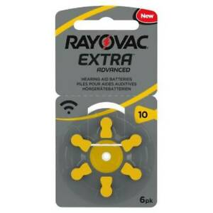 Rayovac Extra Hearing Aid Batteries Size 10 -  YELLOW 60 batteries in total