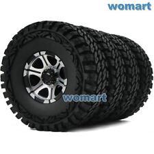 4pcs RC 1/10 115mm Tire 1.9'' Alloy Beadlock Rims Wheel Fit RC 4WD Crawler Truck