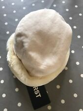 BNWT First Avenue faux fur cream hat