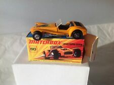 MATCHBOX N° 60: LOTUS SUPER SEVEN NEUF BOITE MINT BOX. 1971.