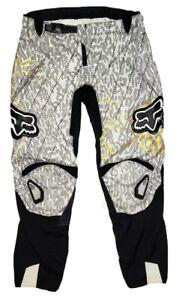 Fox Racing 180 Motocross Riding Pants Girls Size 12/14 28 Black White Gold
