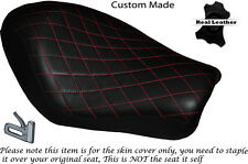 DIAMOND STITCH B RED CUSTOM FOR HARLEY SPORTSTER LOW IRON 883 SOLO SEAT COVER