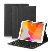 Pour iPad 10.2 2019 7th AZERTY Clavier Bluetooth Keyboard Coque Housse Étui Case