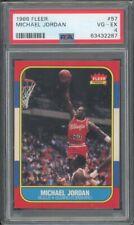 1986 FLEER MICHAEL JORDAN #57 RC, Chicago Bulls VG-EX PSA 4 ~ NOT A 4! RE SLAB!