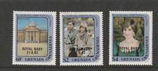 Granada GR1982 Diana 21st sobreimpresa Royal Baby Conjunto de todos 3 conmemorativas estampillada sin montar o nunca montada