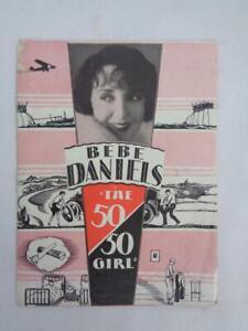 "Burford Theatre Promo Brochure - Bebe Daniels ""The 50/50 Girl Aug 1928 RARE!"