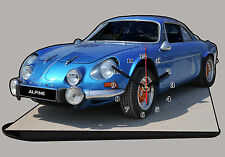 MODEL CARS, ALPINE RENAULT A 110 BLUE - 06  with Clock