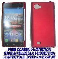 Pellicola + custodia BACK COVER ROSSA rigida per LG Optimus 4X HD P880