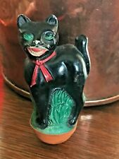 Antique Halloween Celluloid Cat Roly Poly toy