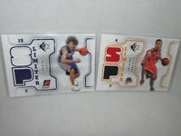 Lot of 2 - 2008/09 SP Basketball * RC Memorabilia * Robin Lopez Anthony Randolph