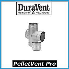 """DURAVENT PELLETVENT PRO Pipe 3"""" Diameter Double Tee w/ Clean-Out Cap  #3PVP-DBT"""
