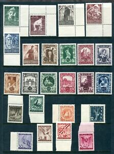 x438 - AUSTRIA Collection / Lot of 1940s Semi-Postal Stamps. All Unmounted MNH