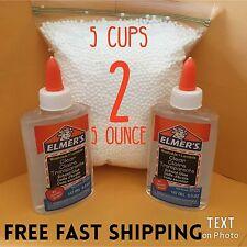 Elmers Washable CLEAR School Glue 5 OZ Make Crafts Glass Putty or Slime 5oz