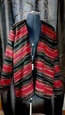 JACK BB Dakota Southwestern Red Black Striped Sweater Jacket Lagen look Cardigan