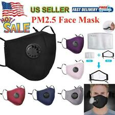 PM2.5 Cotton Reusable Washable Face Cover With 2 Activated Carbon Filter Pads