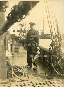 12 Original photos on album page Mackerel fishermen Fishing boats 1920 Brixham