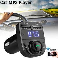 Bluetooth Car Kit Wireless FM Transmitter Dual USB Ports Car Charger MP3 Player