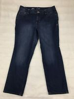 Lane Bryant Womens Jeans Size 20 Average Simply Straight Dark Wash